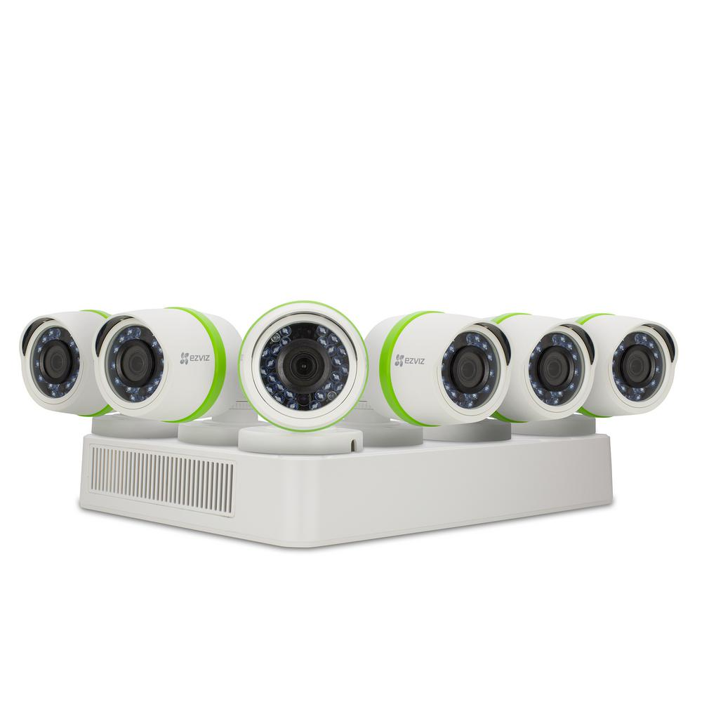2f32b29bda5c Security Cameras 8-Channel 1080 TVL 2TB and Up HDD Surveillance Systems  Night Vision Works with Alexa Using IFTTT