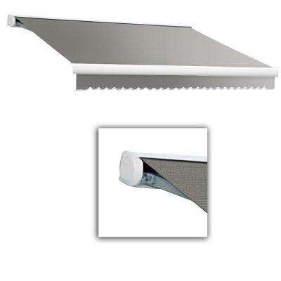 24 ft. Key West Full Cassette Left Motor Retractable Awning (120 in. Projection) Gray