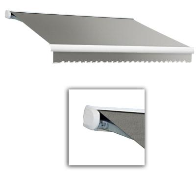 12 ft. Key West Full Cassette Right Motor Retractable Awning (120 in. Projection) in Gray