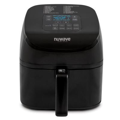 4.5 Qt. Black Air Fryer with 3-Wattage Control Settings