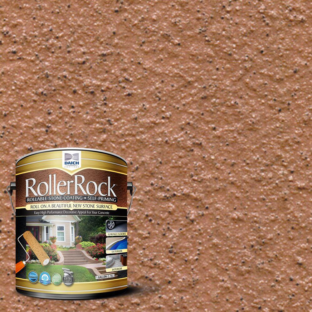 Daich rollerrock 1 gal self priming cinnamon exterior - Exterior textured paint home depot ...