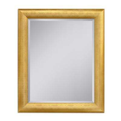 Pave Weave 28 in. x 34 in. Wall Mirror in Gold
