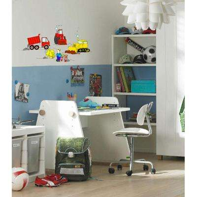 36 in. H x 36 in. D 16-Piece Under Construction Wall Sticker (2-Sheets)