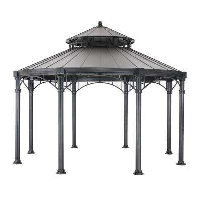 Windsor 14 ft. x 14. ft Black Hard Top Gazebo
