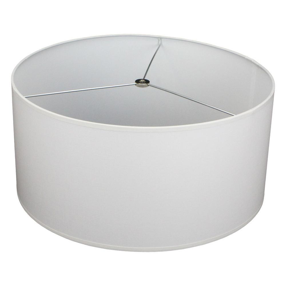 17 in. Top Diameter x 17 in. Bottom Diameter x 8 in. H Linen White Drum Lamp Shade