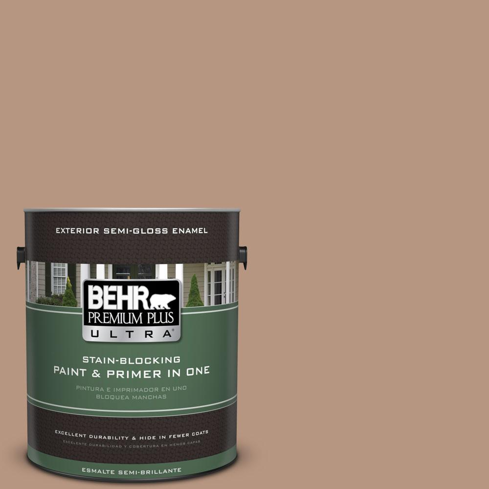 BEHR Premium Plus Ultra 1-gal. #S220-4 Potter's Clay Semi-Gloss Enamel Exterior Paint