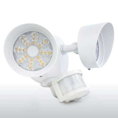 35-Watt 180-Degree White Motion Activated Outdoor Integrated LED Area Light