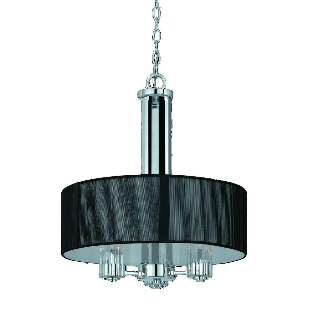 Filament Design Value 3-Light Chrome Pendant