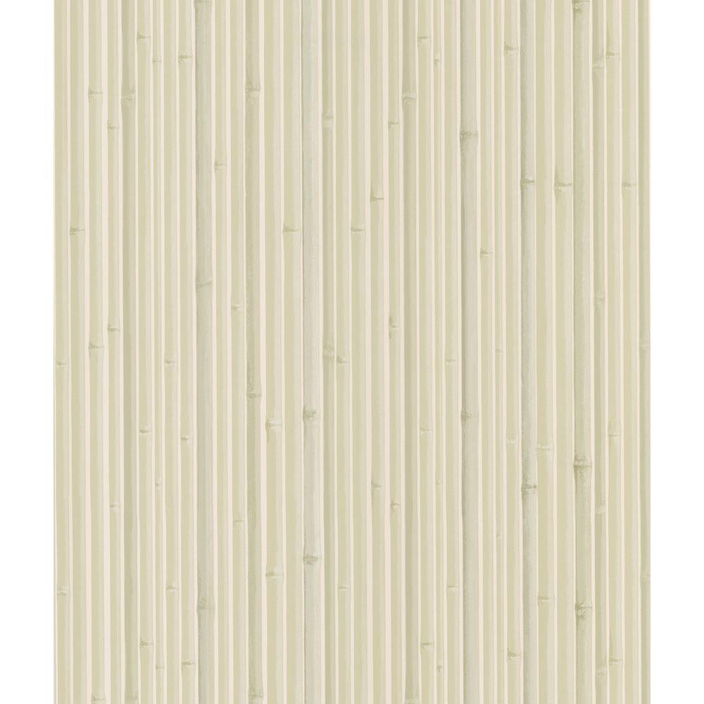 National Geographic Kyoto Light Grey Bamboo Wallpaper Sample 405-49458SAM