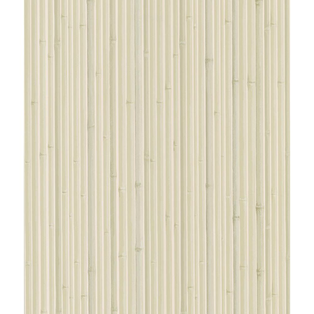 National Geographic Kyoto Light Grey Bamboo Wallpaper Sample