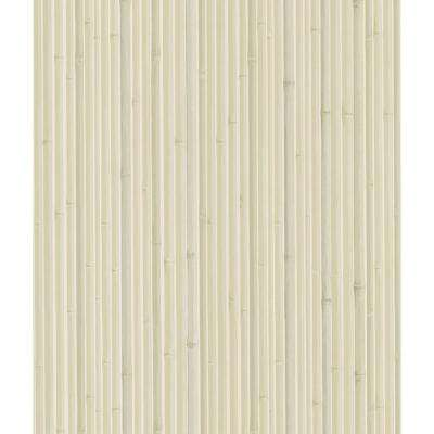 Kyoto Light Grey Bamboo Wallpaper Sample