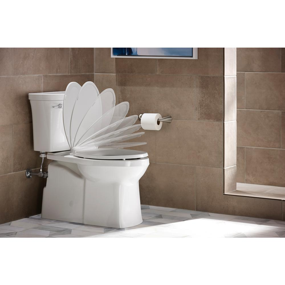 Miraculous Kohler Cachet Quiet Close Elongated Closed Front Toilet Seat With Grip Tight Bumpers In White Ibusinesslaw Wood Chair Design Ideas Ibusinesslaworg