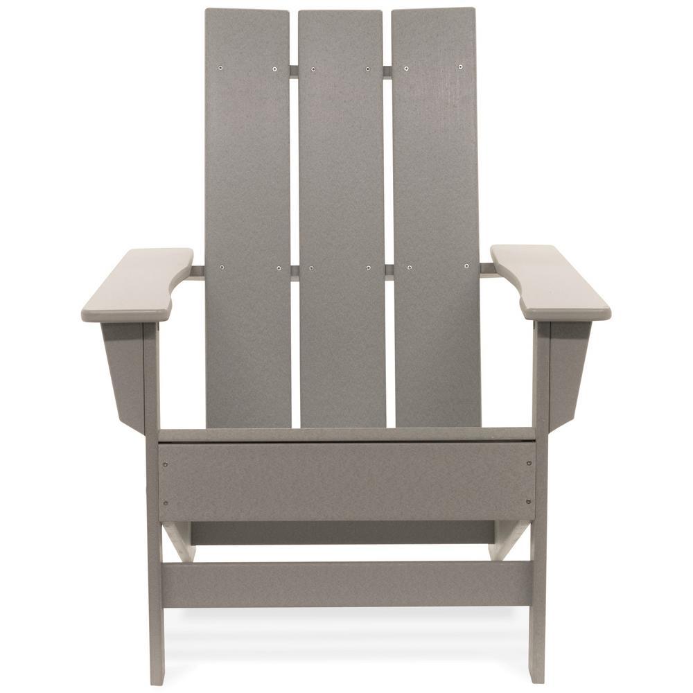 Aria Light Gray Recycled Plastic Modern Adirondack Chair