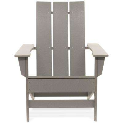 Aria Light Gray Recycled Plastic Modern Adirondack Chair