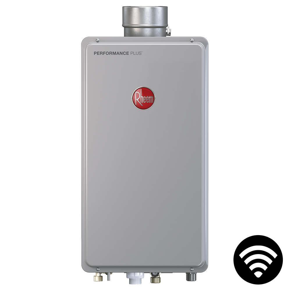 Rheem Performance Plus 8 4 Gpm Liquid Propane Indoor Smart Tankless Water Heater Eco180dvelp3 1 The Home Depot