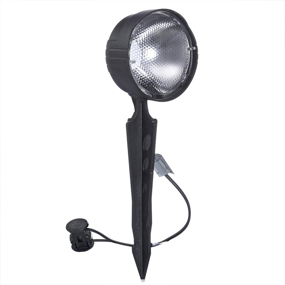 Low Voltage 4 Watt Black Outdoor Landscape Flood Light With Incandescent Bulb