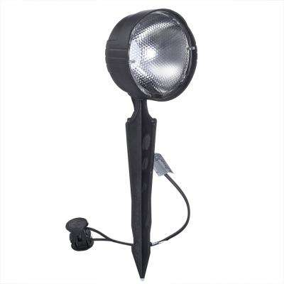 Low-Voltage 4-Watt Black Outdoor Landscape Flood Light with Incandescent Bulb