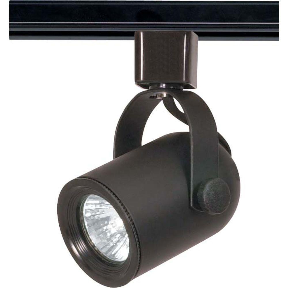 1-Light MR16 120-Volt Black Round Back Track Lighting Head