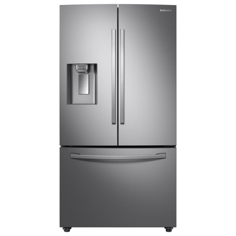 Samsung Samsung 28 cu. ft. 3-Door French Door Refrigerator in Stainless Steel with Food Showcase Door, Fingerprint Resistant Stainless Steel