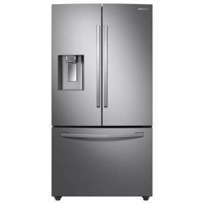 28 cu. ft. 3-Door French Door Refrigerator in Stainless Steel with Food Showcase Door