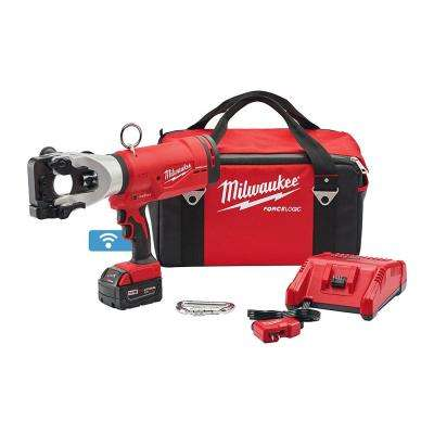 M18 18-Volt Lithium-Ion Cordless FORCE LOGIC 1590 ACSR Cable Cutter W/ (1) 5.0Ah Battery, Charger, Tool Bag