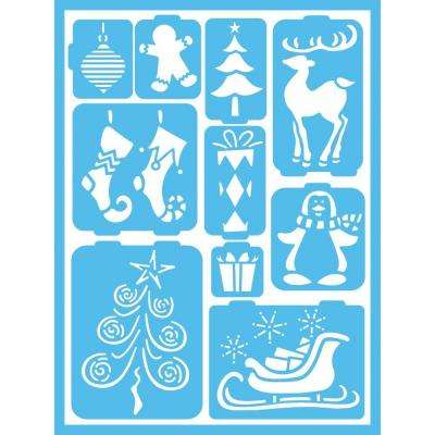Whimsical Christmas Self-Adhesive Stencil