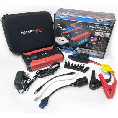 Smartech JS-15000N 15000 mAh Lithium Powered Vehicle Jump Starter and Power Bank Starter and Power Bank