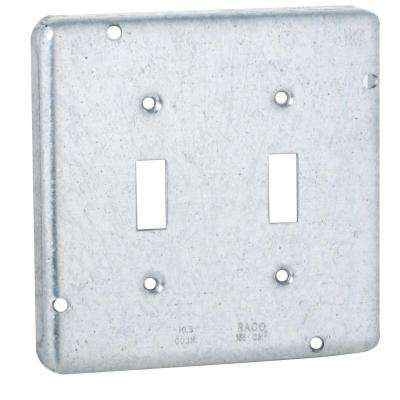 4-11/16 in. Square Exposed Work Cover for Two Toggle Switches (10-Pack)