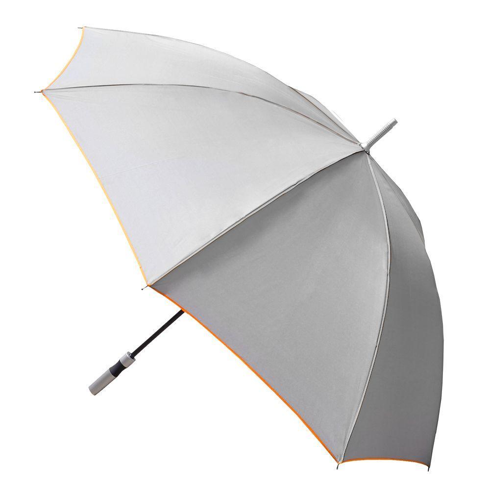 Color Trim Large Gray Manual Umbrella
