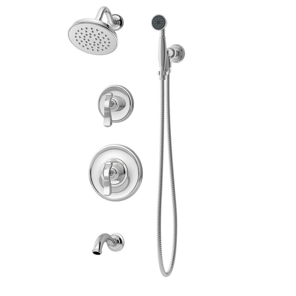 Symmons Winslet Single Handle 1 Spray Tub And Shower Faucet With Hand Shower  System