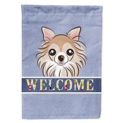 11 in. x 15-1/2 in. Polyester Chihuahua Welcome 2-Sided 2-Ply Garden Flag
