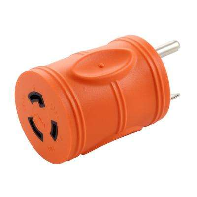 AC Connectors Generator Adapter RV 30A TT-30P to L5-20R 20A 3-Prong Locking Connector