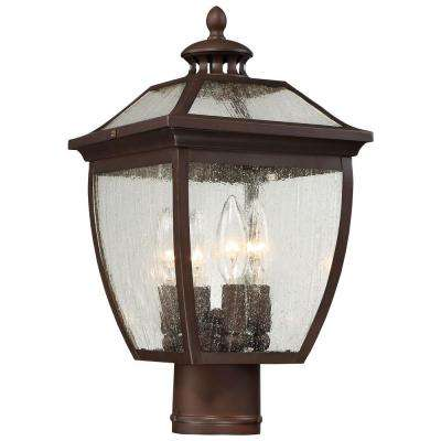 Sunnybrook 4-Light Alder Bronze Post Mount