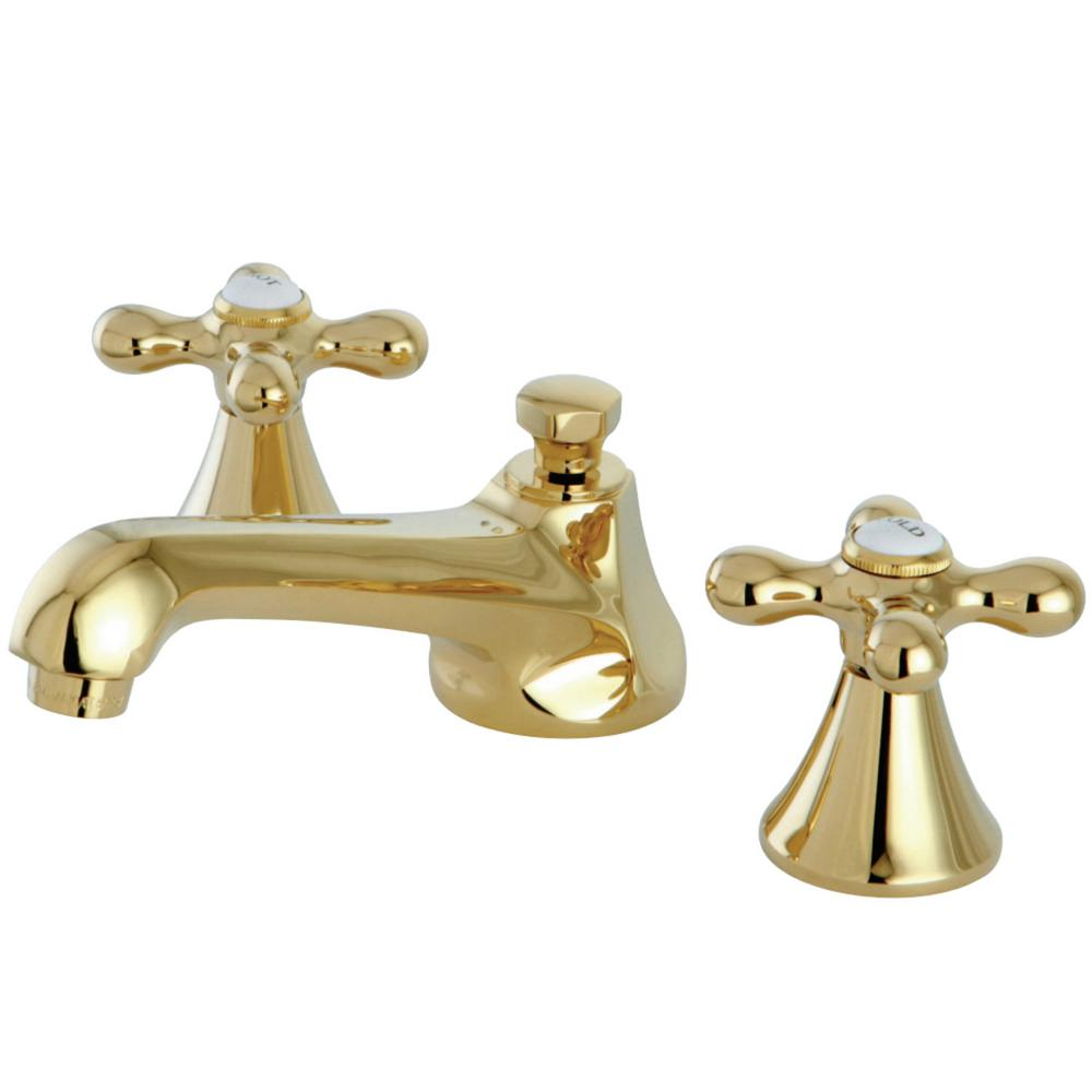 Kingston Brass Modern 8 In. Widespread 2-Handle Bathroom Faucet In Polished Brass-HKS4472AX