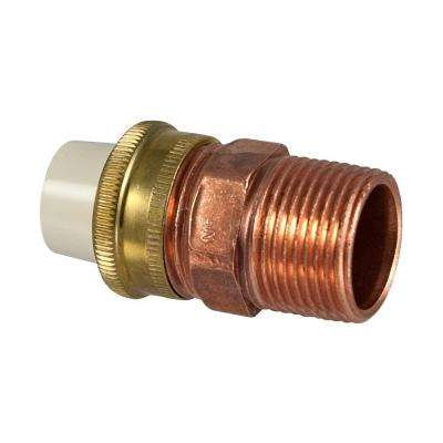 1/2 in. x 3/4 in. Lead-Free Copper and CPVC CTS MPT x Slip Transition Union