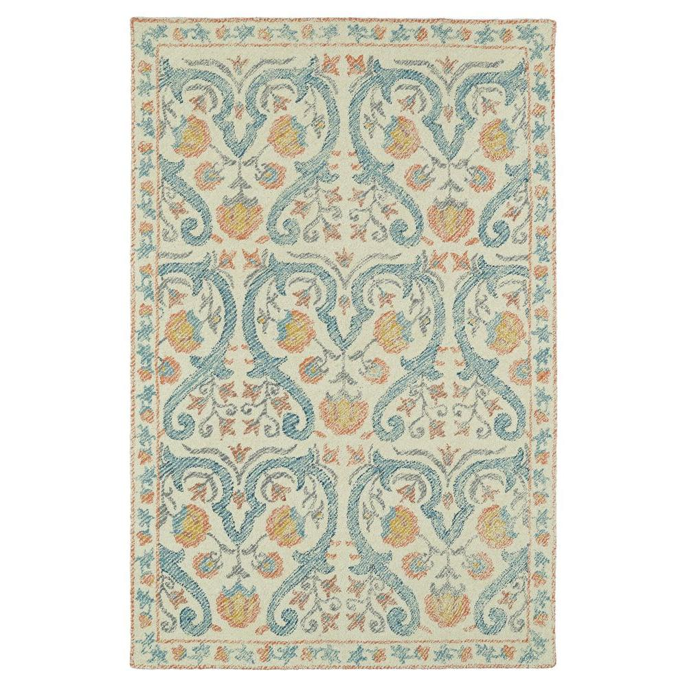 Montage Teal 9 ft. x 12 ft. Area Rug