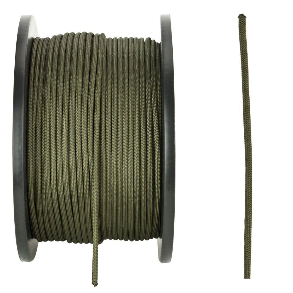 Crown Bolt 1/8 in. x 500 ft. Premium Nylon Paracord, Olive Green