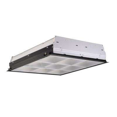 2 ft. x 2 ft. 2-Light Fluorescent White with Semi Specular Low Haze Louver Parabolic Troffer