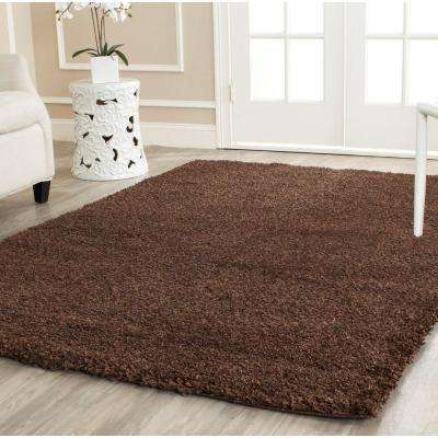 California Shag Brown 8 ft. 6 in. x 12 ft. Area Rug
