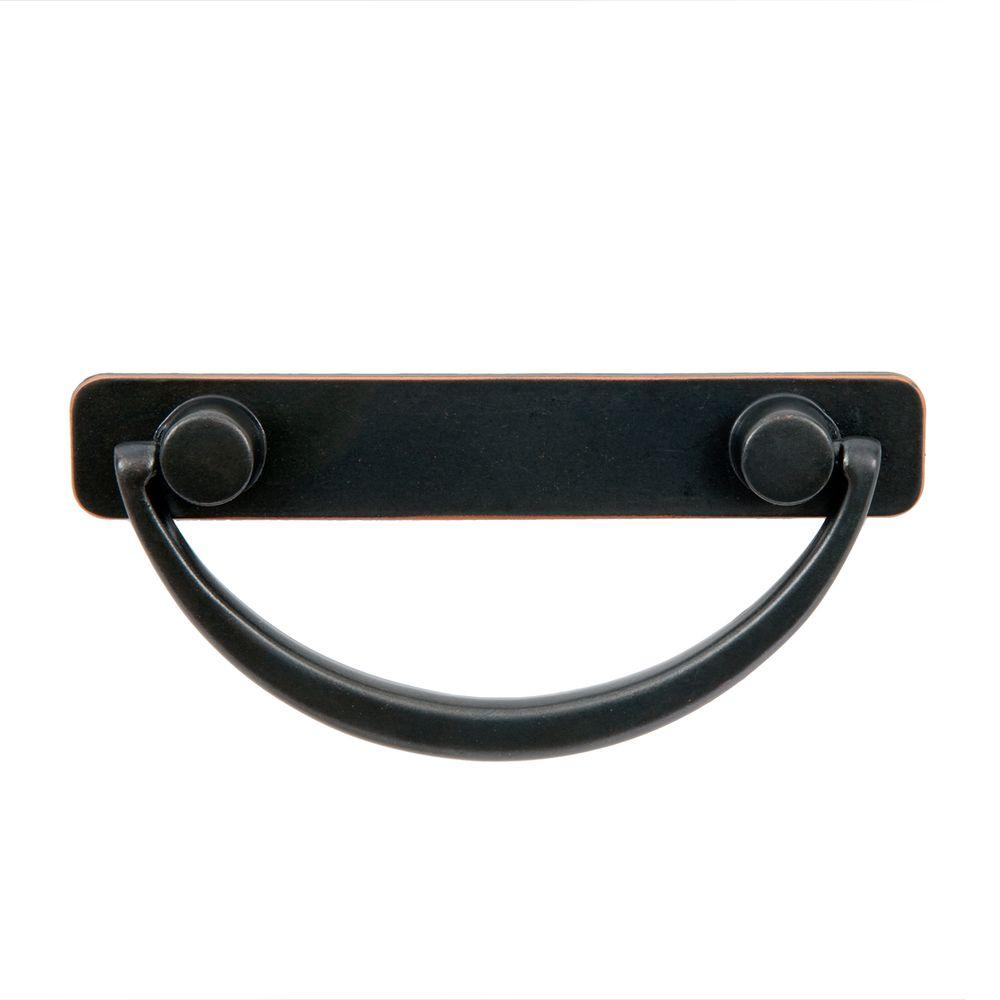 null Harnett 4-1/2 in. Oil Rubbed Bronze Bail Pull-DISCONTINUED