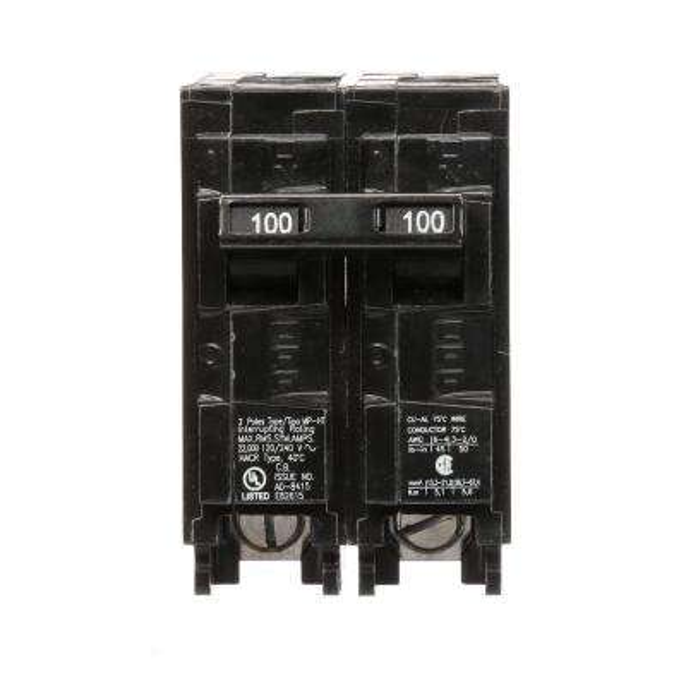 100 Amp Double-Pole Type MP 22 kA Plug-In Circuit Breaker