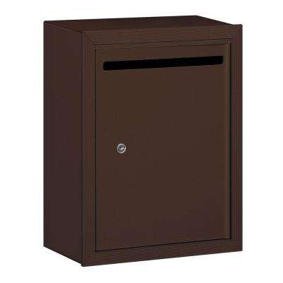 2240 Series Standard Surface-Mounted Bronze Private Letter Box with Commercial Lock