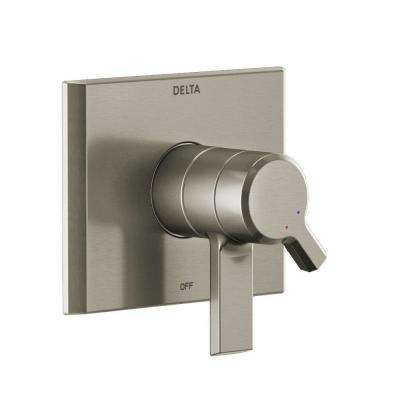Pivotal 1-Handle Wall-Mount Diverter Trim Kit in Stainless (Valve Not Included)