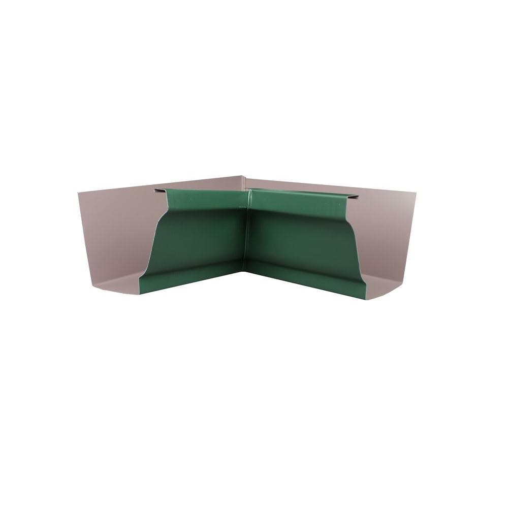 6 in. Forest Green Aluminum Inside Box Miter