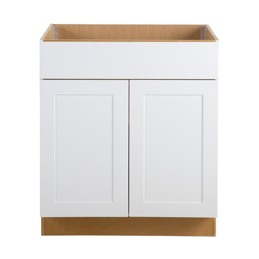 White drawer front Sink Base Hampton Bay Cambridge Assembled 30x345x245 In All Plywood Sink Base Cabinet The Home Depot Hampton Bay Cambridge Assembled 30x345x245 In All Plywood Sink