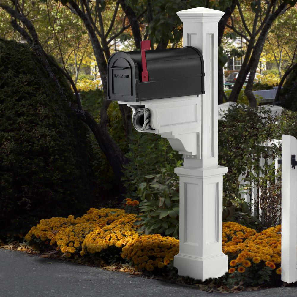 Dover Mailbox Post, White