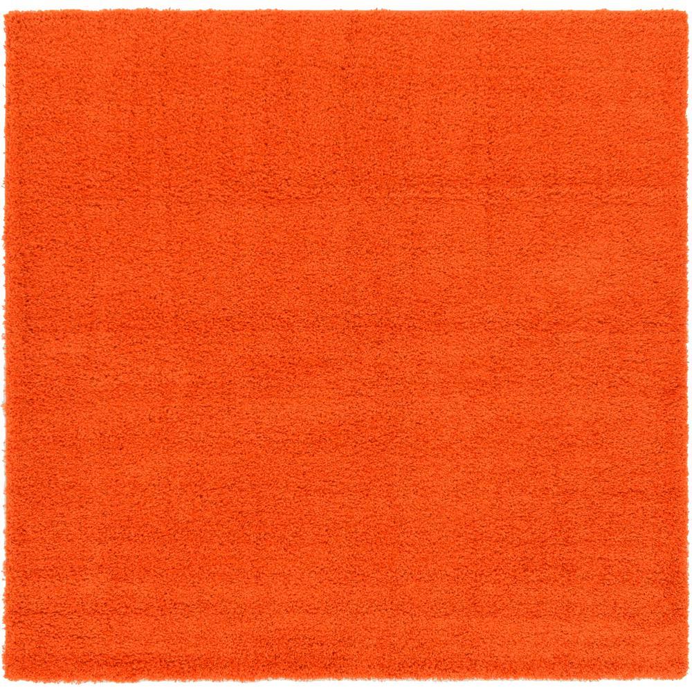 Solid Shag Tiger Orange 8 Ft. 2 In. X 8 Ft. 2 In