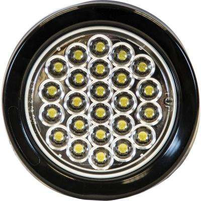 4 in. LED Round Strobe Light, Clear