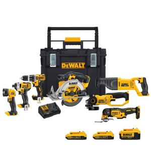 Deals on DEWALT 20-Volt MAX Lithium-Ion Cordless Combo Kit (7-Tool)