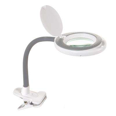 4 in. LED Magnifying Lamp with Clamp Lens